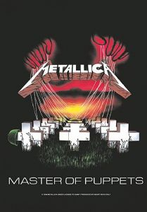 Metallica Master Of Puppets large fabric poster/ flag 1100mm x 750mm  (hr)